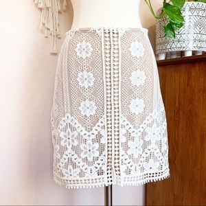 For Love And Lemons Mini Skirt Nude Lace Size XS